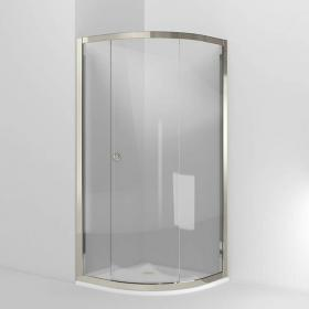 Arcade 800mm Single Door Quadrant Shower Door - Nickel Finish