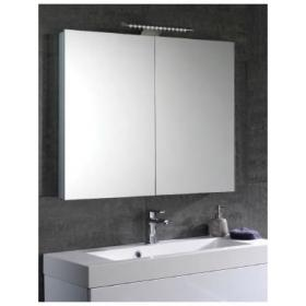 Mere Aura 90cm Mirror Bathroom Cabinet With LED Lights