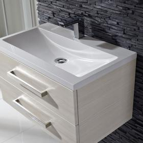 Frontline Aquatrend Avola White 700mm Vanity Unit & Basin