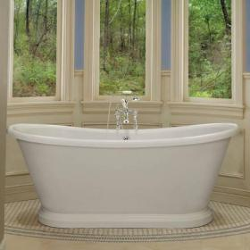 BC Designs 1700mm Acrylic Freestanding Boat Bath