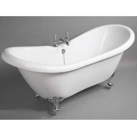 Duchess 1750mm Double Ended Freestanding Slipper Bath With Feet