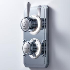 Photo of Crosswater Belgravia Lever Dual Outlet Digital Bath / Shower Valve - High Pressure