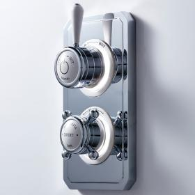 Photo of Crosswater Belgravia Lever Dual Outlet Digital Shower Valve - High Pressure
