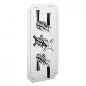 Crosswater Waldorf Black Lever 3000 Shower Valve with Three Way Diverter