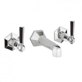Photo of Crosswater Waldorf Black Lever Wall Mounted Bath Filler