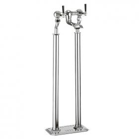 Photo of Crosswater Waldorf Black Lever Floorstanding Bath Filler