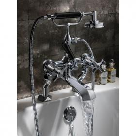 Crosswater Waldorf Black Lever Bath Shower Mixer with Kit