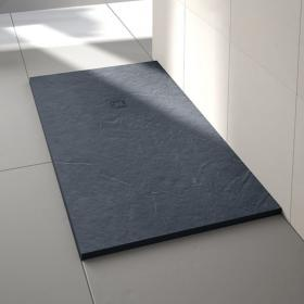 Merlyn Truestone Slate Black 1200 x 900mm Rectangular Shower Tray & Waste