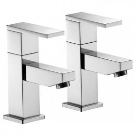 Pura Bloque Basin Pillar Taps
