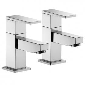 Pura Bloque Bath Pillar Taps