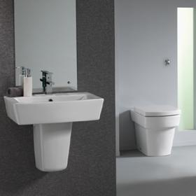 Pura Bloque Back To Wall Toilet & Basin Set