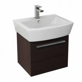 Pura Bloque 55cm Wall Mounted Unit & Basin - Wenge
