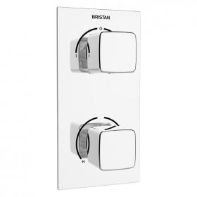Photo of Bristan Cobalt Two Outlet Recessed Shower Valve