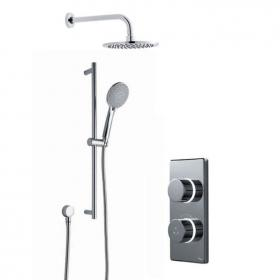 Photo of Britton Contemporary 2025 Dual Outlet Digital Shower, Shower Head & Slide Rail