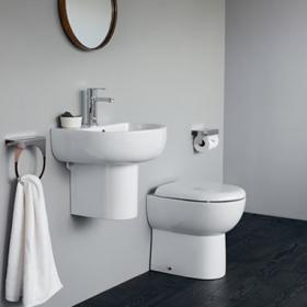 Britton Compact Cloakroom Toilet & Basin Set