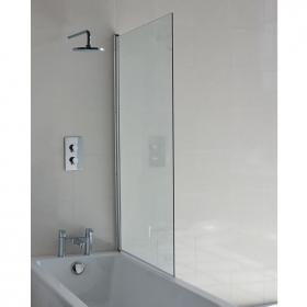 Britton Cleargreen Single Panel Hinged Bathscreen