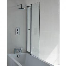 Britton Cleargreen Hinged Bathscreen with Access Panel