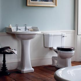 Burlington Classic Round Basin & Toilet Set