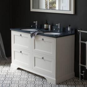 Photo of Burlington Sand 1300mm Double Vanity Unit with Drawers, Worktop & Basin