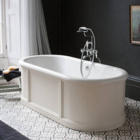 Burlington London Round 1800mm Bath with Curved Surround