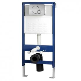 Pura Wall Hung Concealed WC Frame with Dual Flush Plate