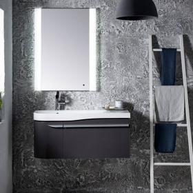 Roper Rhodes Cirrus 900mm Gloss Dark Clay Vanity Unit and Basin
