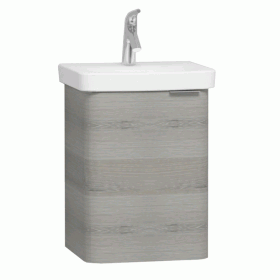 Vitra Designer Nest Cloakroom Basin Unit With 1 Door -  Grey Natural Wood