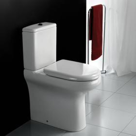 Photo of RAK Compact Deluxe Rimless Close Coupled WC (Closed Back)