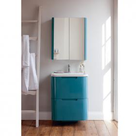 Aqua Cabinets Compact Ocean 600mm Two Drawer Vanity Unit & Basin