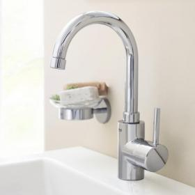 Grohe Concetto Basin Mixer with Swivel Spout & Pop-up Waste