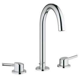 Grohe Concetto 3 Tap Hole Basin Mixer Tap Inc Pop-up Waste