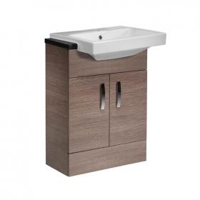 Tavistock Courier Montana 600mm Semi Recessed Vanity Unit, Basin & Worktop