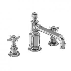 Photo of Arcade Chrome Crosshead Three Tap Hole Basin Mixer