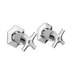 Photo of Crosswater Waldorf Chrome Crosshead Wall Stop Taps