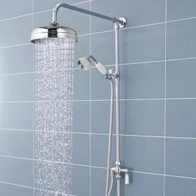 BC Designs Victrion Superbe Fixed Riser Kit with Shower Head & Handset