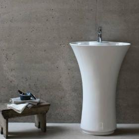 Britton Bathrooms Curve Freestanding Basin with Pedestal