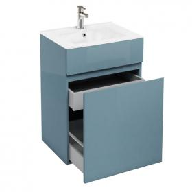 Aqua Cabinets D450 Ocean 600mm Double Drawer Unit & Basin