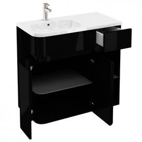 Aqua Cabinets D450 Arc Black 900mm Combination Unit & Basin