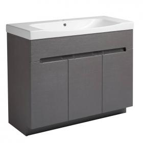 Roper Rhodes Diverge Charcoal Elm 1000mm Freestanding Unit & Basin