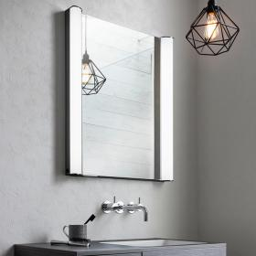 Bauhaus Duo 600mm LED Illuminated Recess Mirrored Cabinet