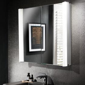 Bauhaus Duo 800mm LED Illuminated Recess Mirrored Cabinet