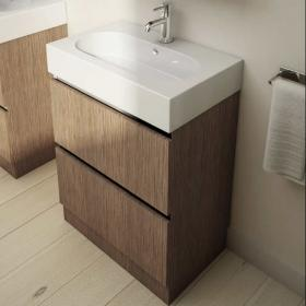 Pura Echo 60 x 38cm Floor Mounted Unit & Basin - Soft Oak