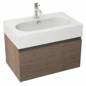 Pura Echo 80 x 45cm Wall Mounted Unit & Basin - Soft Oak