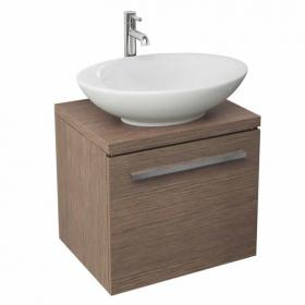 Soft Oak Pura Bloque Wall Mounted Vanity Unit & Basin