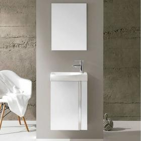 Photo of Frontline Elegance Gloss White Cloakroom Unit & Mirror