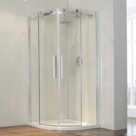 Aquaglass Semi Frameless 1200 x 900 Offset Quadrant Shower Enclosure