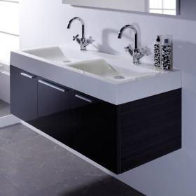 Roper Rhodes Envy 1200 Anthracite Double Wall Hung Unit & Basin