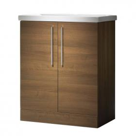 Roper Rhodes Envy 700mm Walnut Floor Standing Unit & Basin