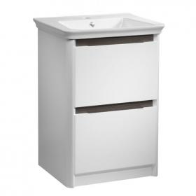 Tavistock Equate 600mm White/Grey Oak Freestanding Unit