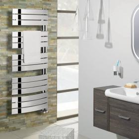 Bauhaus Essence Curved Chrome Towel Rail